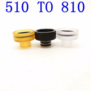 Newest Adapter 510 To 810 PC POM PEI Material Connector Bending Adaptor Fit RDA RDTA TANK Drip Tip Heat Insulation High Quality