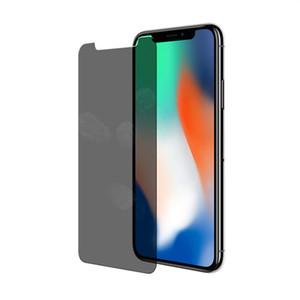 إلى iPhone X XS MAX XR 8 7 6 Plus Privacy 9H حامي شاشة الهاتف المحمول درع مضاد للتجسس الزجاج المقسى 2.5d الزجاج المقسى سامسونج S7 S6