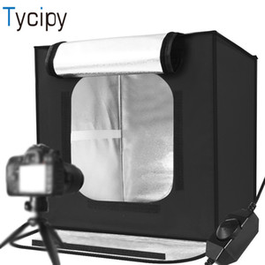 Venta al por mayor Foldable 60x60x60cm Light Box Mini LED Photo Studio Caja suave Photo Studio Shooting Tent Box Kit Para Fotografía Iluminación
