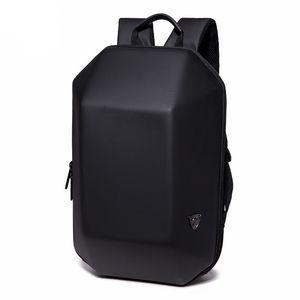 Hırsızlığa Karşı Sırt Çantası Sert Kabuk Sırt Çantası Erkekler Seyahat Çantası Siyah Alien Casual Laptop Genç Okullu Çocuk Su geçirmez