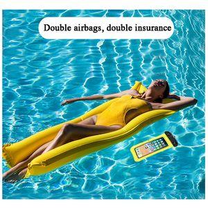 Top Buoyant Air Bag Waterproof Phone Case For iPhone7 6s Samsung Huawei Coque Pouch Waterproof Bag Case Swim Waterproof Airbag Case