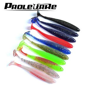 10Pcs 2.4g 8.5cm Pesca Artificial Soft Lure Japan Shad Worm Swimbaits Jig Head Fly Fishing Silicon Rubber Fish YR-212
