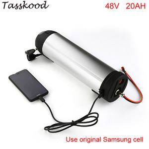 botella de agua 20ah 48v bicicleta eléctrica de litio Samsung pilas de iones de ajuste 48V 750W Bafang bbs02 bicicleta eléctrica con puerto USB