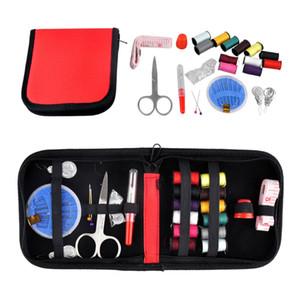 Deportes al aire libre Viajes Senderismo Emergencias Diy Tijera Aguja Nociones de hilo Kit de herramientas de costura 4 colores Nueva Alta calidad