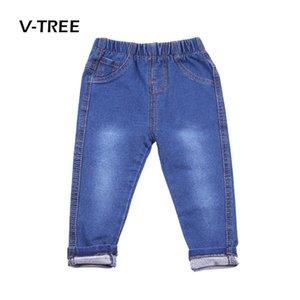 V-TREE мальчиков девочек джинсы брюки конфеты цвет хлопок малышей брюки мода дети детская одежда Брюки 12 м-6 т