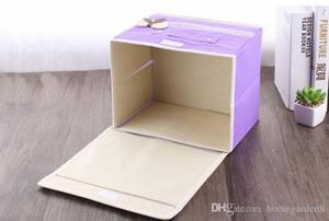 Coperto non tessuto di finitura box di stoccaggio fibbia fibbia scatola di immagazzinaggio scatola di immagazzinaggio dei vestiti mobili pieghevoli