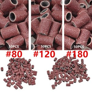 En gros Brand New 1000 PCS Bande Ponceuse # 80 # 120 # 180 Bits de Remplacement Nail Art Grit Pédicure Foret