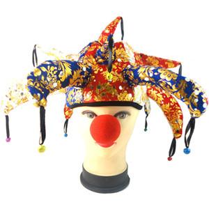 Fournitures de fête Halloween chapeau de clown décorations de fête d'anniversaire enfants bouffon casquette halloween décoration danse fête décor