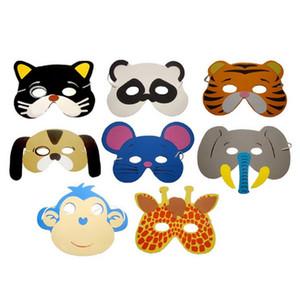 10pcs / Lot EVA Animal Children Party Mask Child Christmas Halloween Masks Decoración del partido de los niños