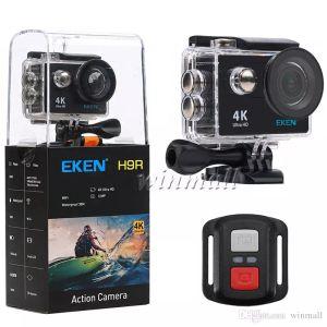 "100% original EKEN H9 H9R 2.4G Télécommande Ultra HD 4K Caméra d'action WIFI 2.0 ""170D Casque imperméable sous-marin Sport Cam"