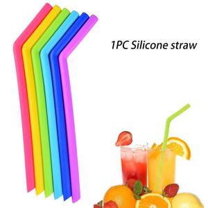 Smoothies flexibles flexibles réutilisables de silicone de paille de silicone