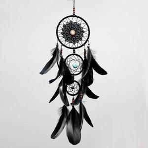 Dreamcatcher handgemachte Dream Catcher Net mit Federn schwarz Windspiele Wandbehang Auto Anhänger Ornament Party Geschenk Dekoration