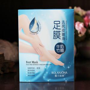 Rolanjona Milk Bamboo Acet Feet Mask Peeling Exfoliating Dead Skin Rimuovi i piedi professionali Sox Mask Foot Care DHL