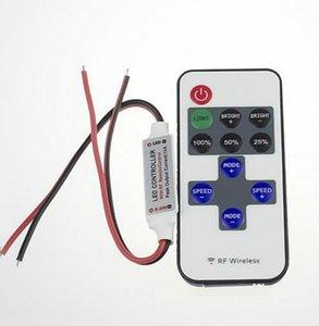 Mini Şerit LED Işık 12V RF Kablosuz Uzaktan Anahtarı Denetleyicisi Dimmer