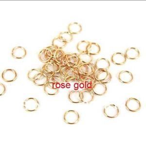 100pcs / lot 20mm rhodium / or / argent / placage de bronze antique ouvert anneaux de saut en métal pour les résultats de bijoux de bricolage composants F309