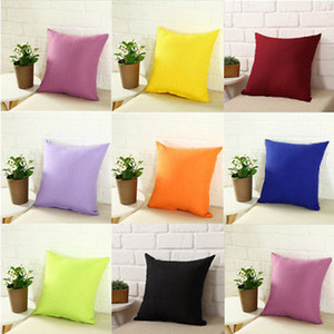 40x40cm Solid Pillow Case Cotton Black Orange Giallo Rosso Blu Copertine Office Case Case