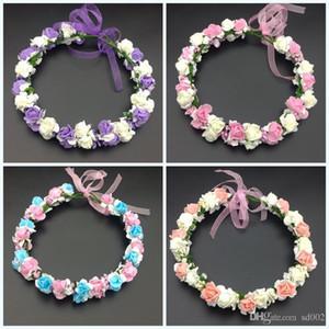 Hochzeit Braut Blume Krone Für Kinder Kopf Ornamente Kränze Handarbeit Künstliche Blumen Haarband Schön Für Mädchen 8zl dd