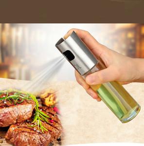 Cristal Pulverizador de aceite de oliva Botella vacía Vinagre de botella Dispensador de aceite para electrodomésticos de cocina Ensalada BBQ Herramientas de cocina Hornear