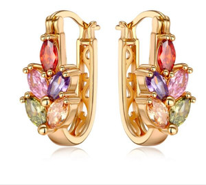 cheap but good zircon gold ears pendants,charming ear stud for all dressing,amazing earring dangling for all hairstyle
