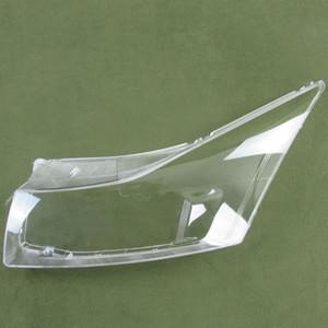 Şeffaf abajur lamba gölge ön Far kabuk far kapağı objektif cam Için Chevrolet Cruze 09-13 2 adet