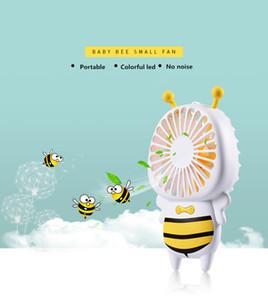 Baby Bee مروحة صغيرة مع 7 ألوان LED المحمولة فائقة النحافة مروحة صغيرة 4W مفيد جدا مراوح USB للطلاب مكتب في الهواء الطلق