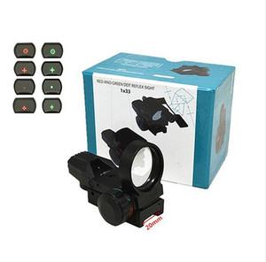 20mm Schiene Zielfernrohr Jagd Airsoft Optics Scope Holographic 1x33 (110) Red Dot Anblick Reflex 4 Absehen Taktisch