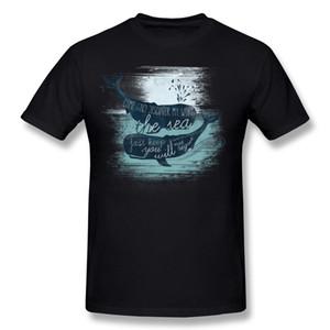 Дешевые Мужские 100% Хлопчатобумажные Ткани Футболки Moby Whale Man O Шея Белые Футболки С Коротким Рукавом S-6XL 3D Печатные Футболки