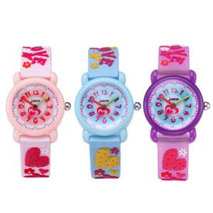 Kid Watch 3D Cartoon papillon Belle Enfants Filles Garçons Enfants Étudiants Montre-bracelet À Quartz Très Populaire Wristwatc Horloge Sportive