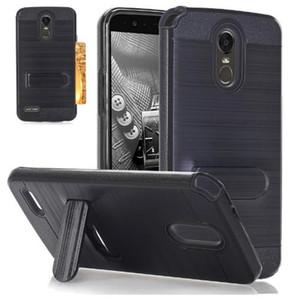 Para lg stylo 3 phone case, Heavy Duty Híbrido À Prova de Choque Armor case com suporte wallet cartão capa para lg lg g3 lv7 zte n9560 case capa