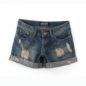 Toptan-2020 Yaz Kadın İlik Kot Şort Pantolon Artı boyutu Bayanlar Yüksek Waisted Pamuk Denim Şort Kot Şort Kadınlar Jeans