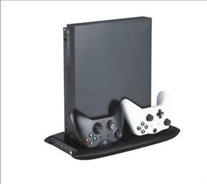 Para Xbox one X Controladores de consola ONEX Soporte vertical Ventilador de refrigeración Cargador de carga Estación de carga