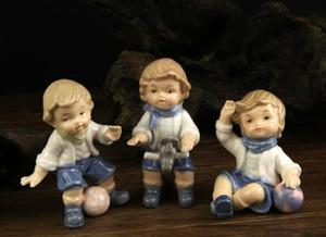 мини керамические милый футбол детская комната мальчик Амур детские home decor ремесла номер украшения ремесла фигурка свадебные украшения