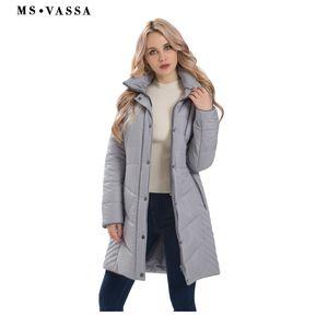 MS vasa النساء سترة 2017 جديد الخريف الشتاء طويلة معاطف السيدات ستر للإزالة هود مع الفراء وهمية زائد حجم قميص 5xl 7xl S18101503