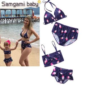 2018 Jessie Store Nuova moda estate divertente costume da bagno ins esplosione bikini carino bikini e mamma Costume da bagno coordinato