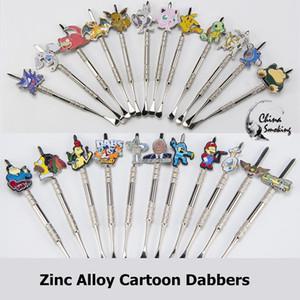 DHL Aleación de Zinc Dabber de Dibujos Animados de Metal Dabble Herramienta de Fumar También Vender Jarra de Silicona Glass Bowl Pallet dabber herramienta