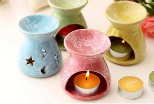 Seramik Koku Yağı Brülörler Lavanta Aromaterapi Koku Mum Eramini Hediye Olio ceramica Mum Lambaları Ücretsiz Kargo