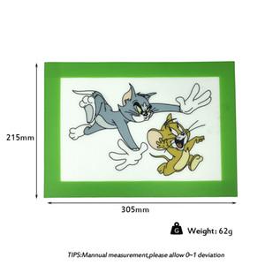 Tom und Jerry Slick Dab Matte Platin gehärtete Silikon-Wachsauflagen trockene Kräutermatten Backmatte Dabber Blätter Gläser Tupfer Matte