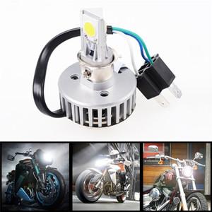 H4 Voiture Moto 18W 2000LM COB LED Haute Faible Rayon Phare Conduite Tête D'ampoule Lumière Lampe Moto argent