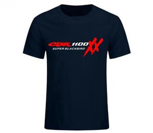 Мода ТОП тройник пуловер HONDA CBR 1100 SUPER BLACKBIRD XX футболки мотоциклы черный и белый мужская футболка мужчины с коротким рукавом футболки