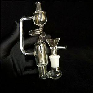Mini Bubbler Pipes Bongs En Verre Tuyaux D'eau Bongs D'eau Recycling Glass Bong D'eau Nouveau