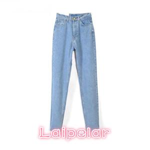 Nuevas mujeres Pantalones de mezclilla Denim Blue Hig Cinturón Pantalones vaqueros Mujer Casual Vintage Boyfriend Jeans para Mujeres Primavera 2018 Moda Laipelar