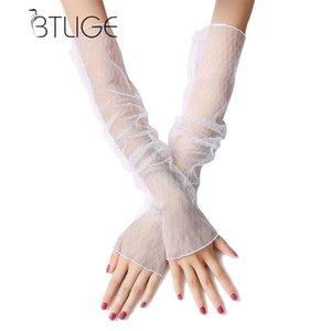 Manicotti donne protezione solare anti UV extra Lace Long Arm Warmers Moda multifunzione di alta qualità Guanti senza dita manica