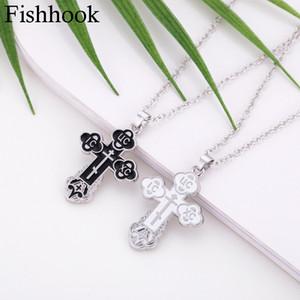 FishHook russe slave orthodoxe orthodoxe église orientale croix des charmes religieux de Jésus chrétienne pour les pendentifs unisexes Colliers