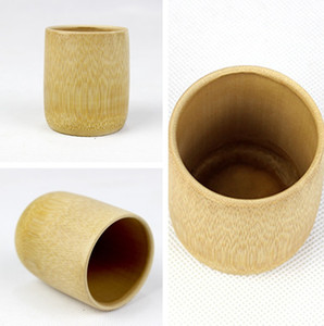 Fait à la main en bambou naturel tasse de thé japonais style bière tasses de lait avec poignée verte écologique Artisanat Voyage T2I230