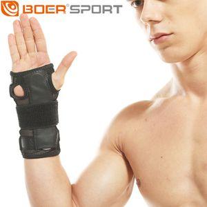 Erkekler ve kadınlar için çelik plaka yastıkları ile atletik spor güvenlik bilek desteği