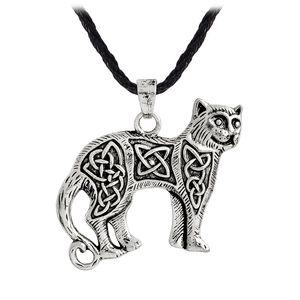 الفايكينغ قلادة الفضة القديمة البرونزية القط قلادة قلادة السلافية فايكنغ تميمة الشمال تعويذة المجوهرات النساء قلادة