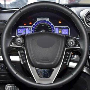 Черный натуральная кожа DIY ручной работы автомобиля рулевое колесо чехол для BYD S7 G5 M6 2015-2017 G6 2011 2012