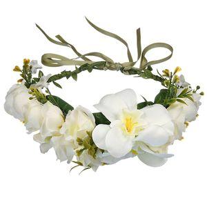 Fiesta de la boda artificial de flores de seda estilo de la playa de Bohemia venda de la manera de novia Tocados Mujeres Niñas Mar la cabeza de flores de la guirnalda F4108