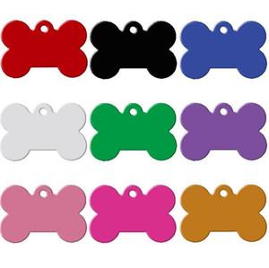 Étiquette de chien métal vierge militaire Dog ID carte étiquettes étiquettes en alliage d'aluminium armée Dog Tags No chaîne couleurs mélangées SN1809