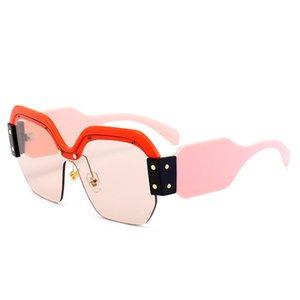UV400 Крупногабаритные Semi-Rimeless площади Солнцезащитные очки Женщины Марка Lunettes де Солей налить Femmes Ретро Солнцезащитные очки для женщин